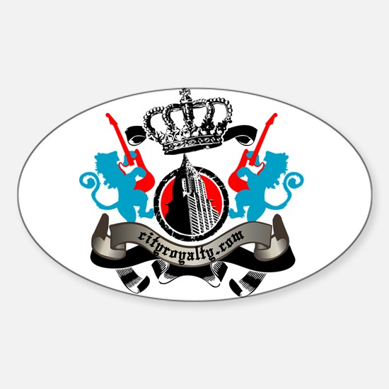 Royalty Lion Crest Oval Decal