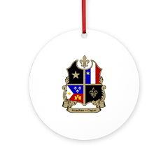 ACADIAN-CAJUN Shield Ornament (Round)