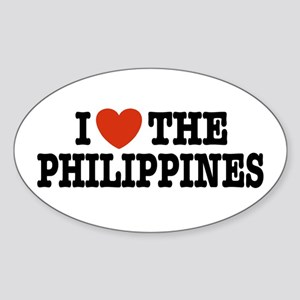 I Love the Philippines Oval Sticker