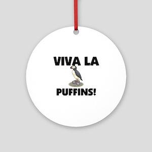 Viva La Puffins Ornament (Round)