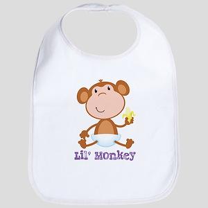 Lil' Monkey Smile Bib