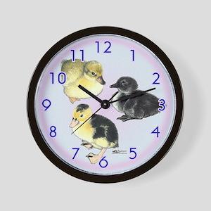 Baby Duckies Wall Clock
