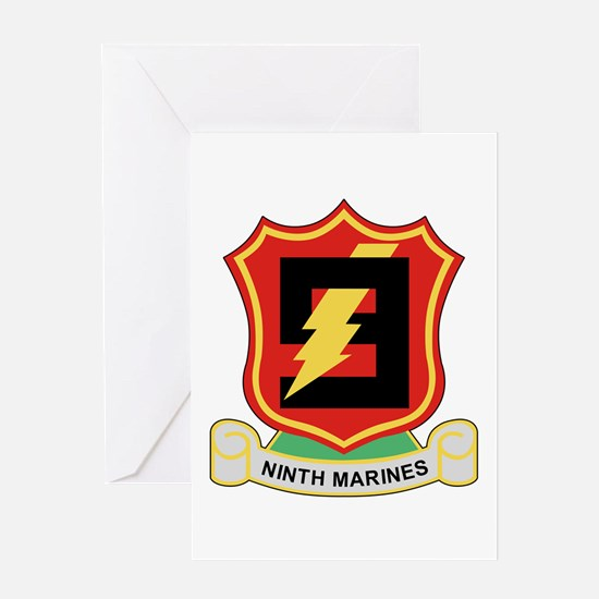Cute 1st battalion 9th marines Greeting Card