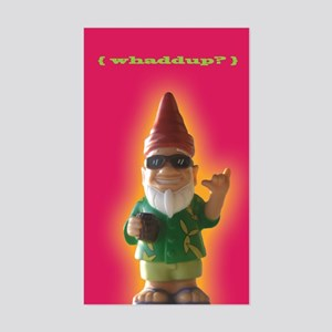 Whaddup? Gnome Rectangle Sticker