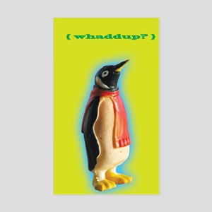 Whaddup? Penguin Rectangle Sticker