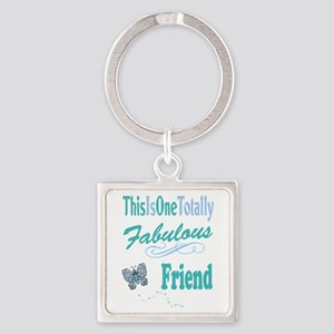 Fabulous Best Friend Square Keychain