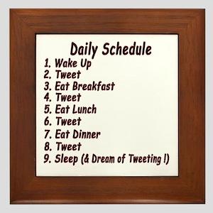 Tweeter Daily Schedule Framed Tile
