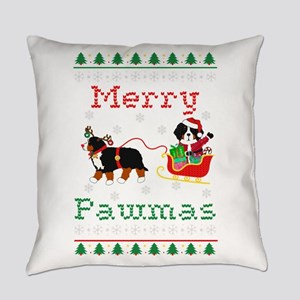 Ugly Xmas Mt Dog Sleigh Everyday Pillow