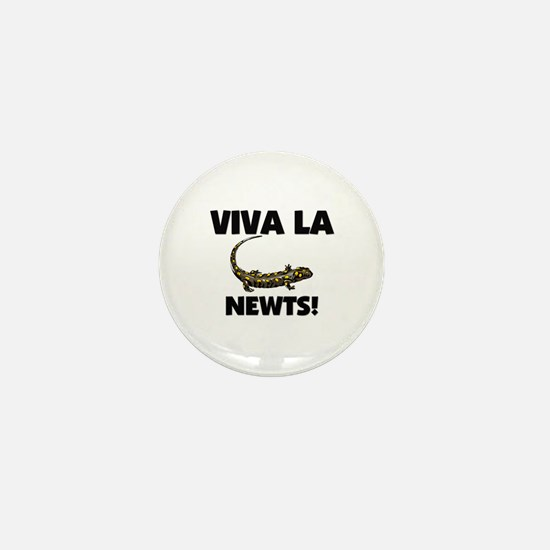 Viva La Newts Mini Button