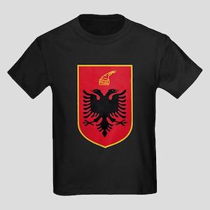 Albania Coat of Arms Kids Dark T-Shirt
