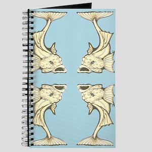 Yellow Art Nouveau Fish Journal