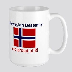 Proud Norwegian Bestemor Large Mug