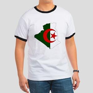 Algeria Flag Map Ringer T