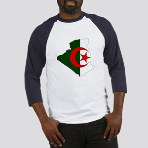 Algeria Flag Map Baseball Jersey