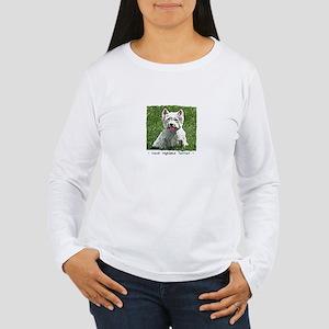 Westie Art Women's Long Sleeve T-Shirt