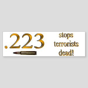 Stops Terrorists Dead Bumper Sticker