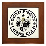 Gentlemen's Chess Club Framed Tile