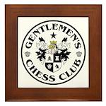 Gentlemen's Chess Club Framed Tile