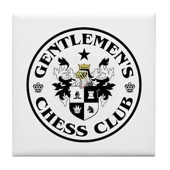 Gentlemen's Chess Club Tile Coaster