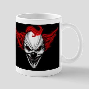 Happy Evil Clown Red Hair Mugs
