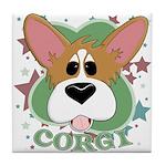 Corgi Stars Tile Coaster