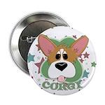 "Corgi Stars 2.25"" Button"
