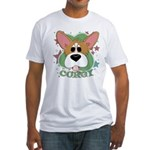 Corgi Stars Fitted T-Shirt