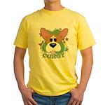 Corgi Stars Yellow T-Shirt