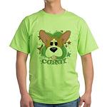 Corgi Stars Green T-Shirt