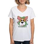 Corgi Stars Women's V-Neck T-Shirt
