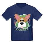Corgi Stars Kids Dark T-Shirt