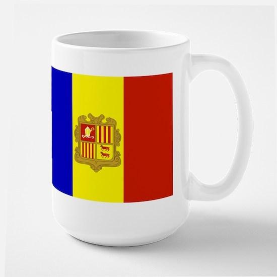 Andorra Flag Large Mug