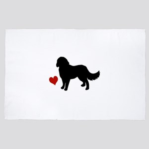 Bernese Mountain Dog 4' x 6' Rug