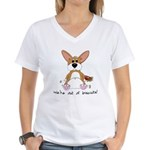 Tubby Corgi Women's V-Neck T-Shirt