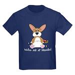 Tubby Corgi Kids Dark T-Shirt