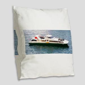 Speeding Beauty Burlap Throw Pillow