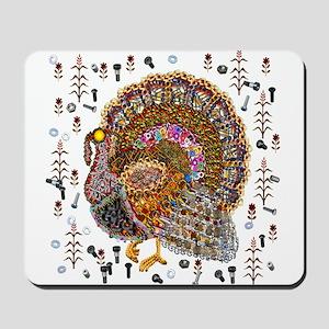 Metal Thanksgiving Turkey Mousepad