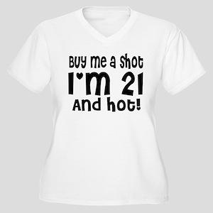 Buy me a Shot Women's Plus Size V-Neck T-Shirt
