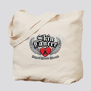 Skin Cancer Wings Tote Bag