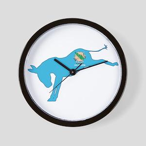 Oklahoma Democrat Donkey Flag Wall Clock