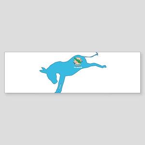 Oklahoma Democrat Donkey Flag Bumper Sticker