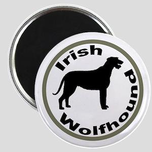 Irish Wolfhound Circle Border Magnet