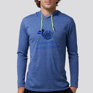Blue French Horn Long Sleeve T-Shirt