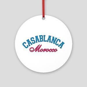 Casablanca Morocco Ornament (Round)