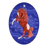 Roan Appaloosa Horse Oval Ornament