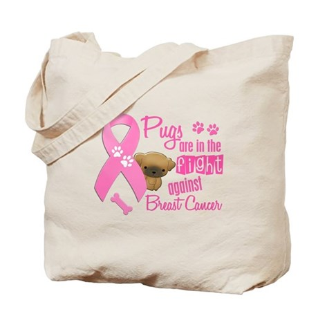 Pugs Against Breast Cancer 2 Tote Bag