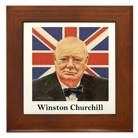 """Winston Churchill"" Framed Tile"