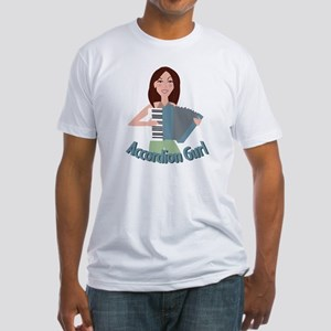 Accordion Girl Fitted T-Shirt