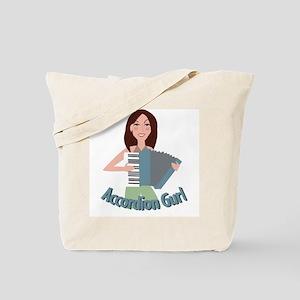 Accordion Girl Tote Bag