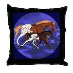 Trot on Appaloosa Mare & Foal Throw Pillow